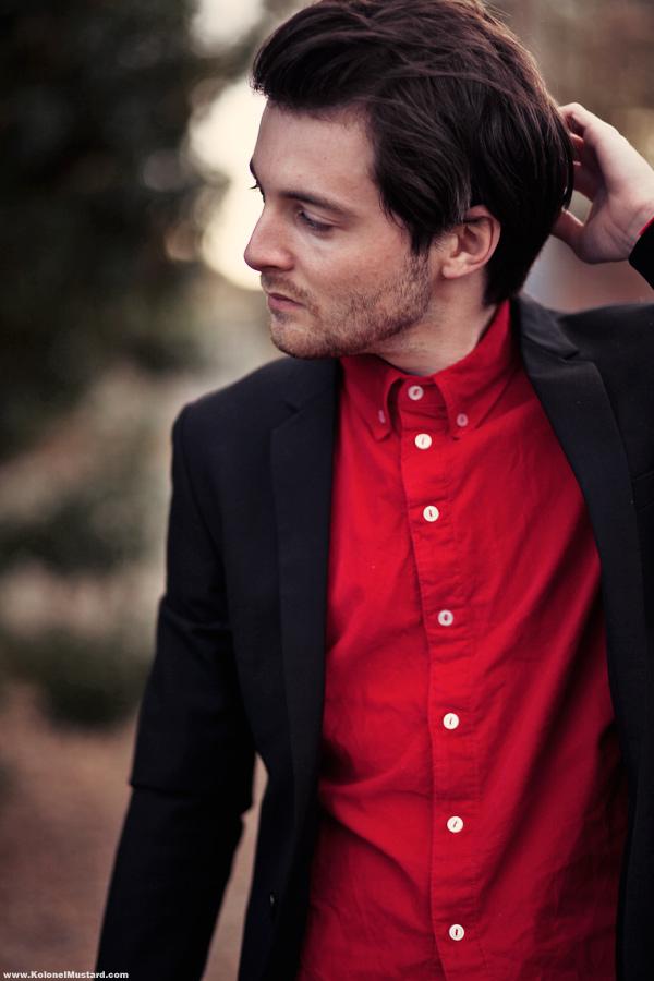 Black Suit Red Shirt - Hardon Clothes